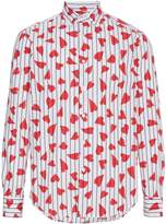 J.W.Anderson heart stripe print shirt