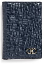 Salvatore Ferragamo Men's 'Ten Forty One' Leather Card Case - Black