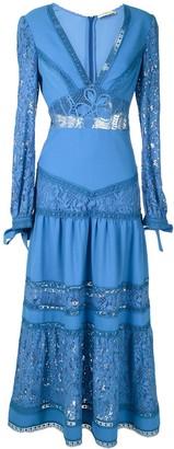 Martha Medeiros Yana lace mid-lenght dress