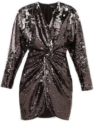 Dundas Crystal-trim Flip-sequinned Jersey Mini Dress - Womens - Black