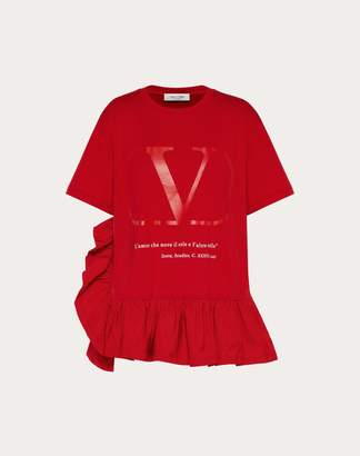 Valentino Love Lab T-shirt Women Red Cotton 100% L