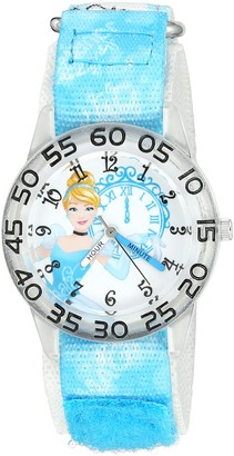 Disney Girl's 'Cinderella' Quartz Plastic and Nylon Watch