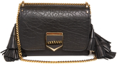 Jimmy Choo Lockette grained-leather shoulder bag