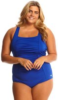 Speedo Shirred Tank Plus Size One Piece Swimsuit 8138803