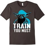 Star Wars Yoda Small You are Train You Must Graphic T-Shirt