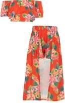 River Island Girls tropical print skort outfit