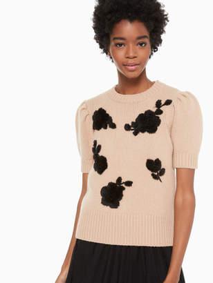 Kate Spade floral applique sweater