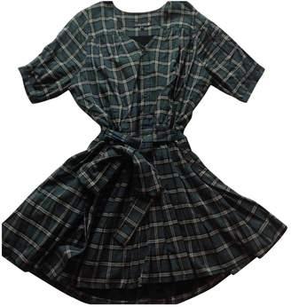Green Cotton Les Chats Perchés Les CHat Perches Dress for Women