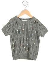 Marie Chantal Girls' Sequined Knit Top