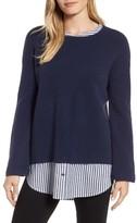 Caslon Women's Layered Look Sweater