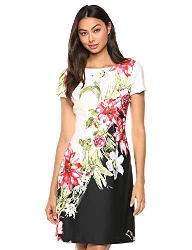 Adrianna Papell Women's Scuba Printed A-LINE Dress