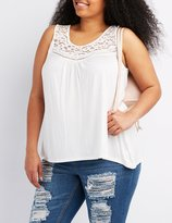 Charlotte Russe Plus Size Lace-Trim Tank Top