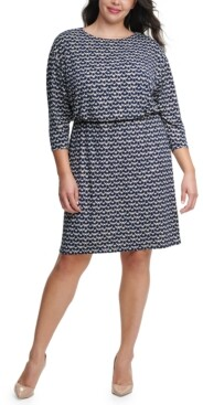 Jessica Howard Plus Size Blouson Sheath Dress