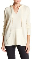 ATM Anthony Thomas Melillo V-Neck Knit Hoodie