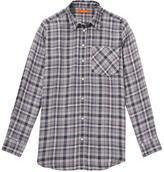 Joe Fresh Plaid Boyfriend Shirt, Blue (Size S)