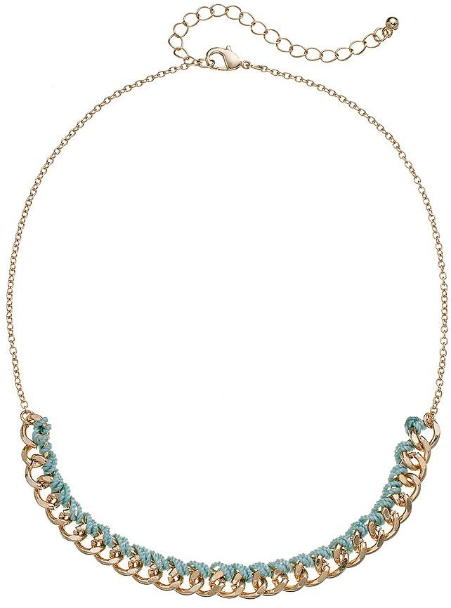 Lauren Conrad thread-wrapped chain necklace