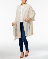 Charter Club Wool-Cashmere Ruffled Wrap, Only at Macy's