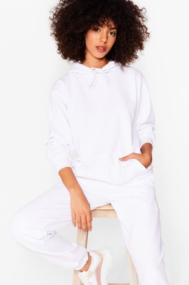 Nasty Gal Womens Jog Our Memory Relaxed Hoodie and Jogger Set - White - S