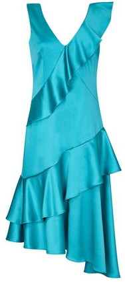 Ariella London Jamila Satin Frill Dress