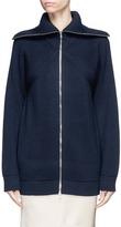 Victoria Beckham Convertible collar virgin wool rib knit jacket
