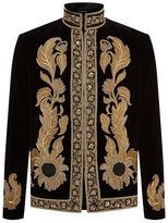 Alexander Mcqueen Embroidered Velvet Jacket