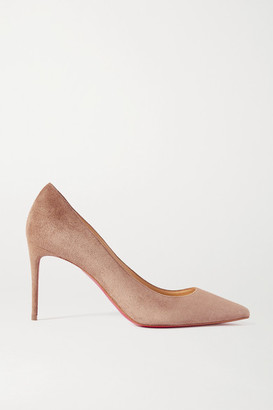 Christian Louboutin Kate 85 Suede Pumps - Beige