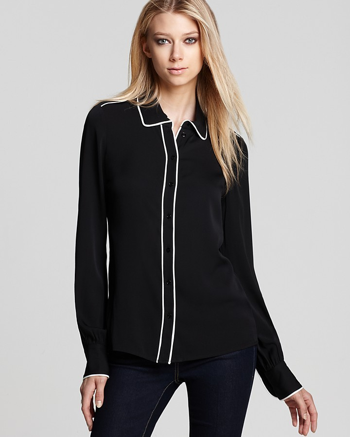 Rachel Zoe Shirt - Lara Basic Button Down