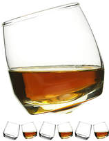 Sagaform Round Bottom Whisky Glasses, Set of 6, Clear