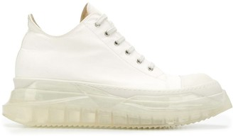 Rick Owens Clear Sole Flatform Sneakers