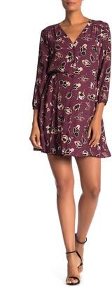 Dr2 By Daniel Rainn V-Neck 3/4 Sleeve Dress