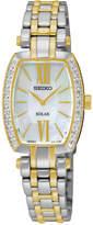 Seiko Women's Solar Tressia Diamond Accent Two-Tone Stainless Steel Bracelet Watch 22mm SUP284