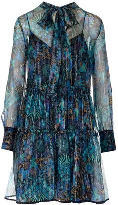 See by Chloe Printed Sheer Dress