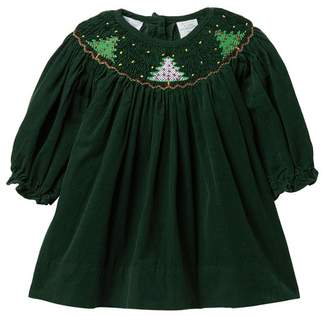Carriage Boutique Corduroy Christmas Tree Dress (Baby Girls)