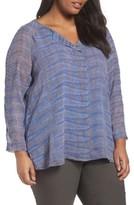Nic+Zoe Plus Size Women's Oasis Blue Top