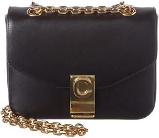 Celine Small C Leather Shoulder Bag