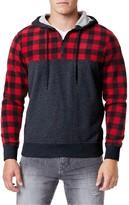 UNIONBAY Men's Check-Sleeve Pullover Hoodie