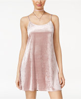 Teeze Me Juniors' Velvet Slip Dress