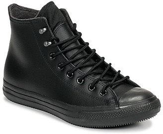 Converse CTAS WINTER LEATHER MONO HI women's Shoes (High-top Trainers) in Black