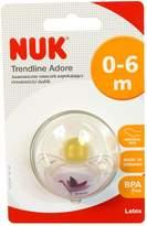 NUK Trendline Adore Pacifier Orthodontic 0-6 Months Latex (4883-2)