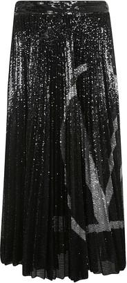 Valentino Embellished Pleated Skirt