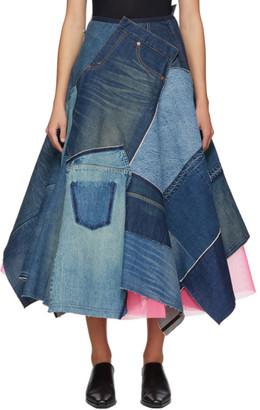 Junya Watanabe Indigo Patchwork Skirt