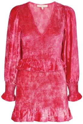 LoveShackFancy Velvet Evan Mini Dress