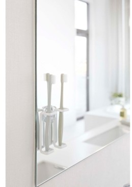 Yamazaki Tower Suction Cup Mounted Toothbrush Holder