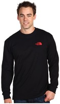 The North Face L/S Back Red Box Tee Men's Clothing