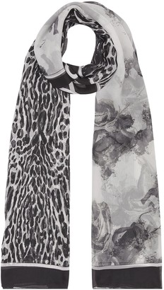 Burberry Angel And Leopard Print Scarf