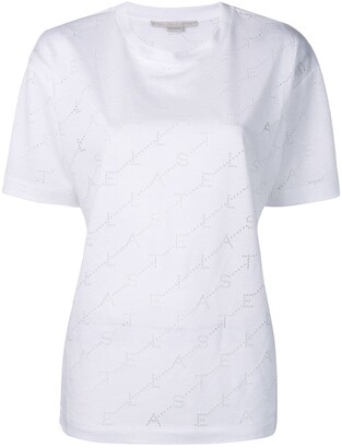 Stella McCartney logo perforated T-shirt