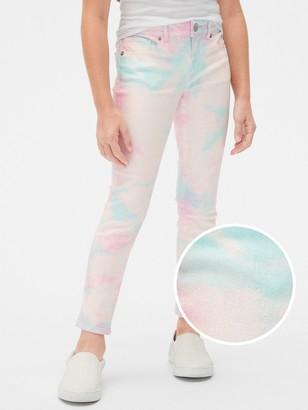 Gap Kids Tie-Dye Super Skinny Jeans with Stretch
