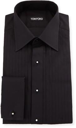 Tom Ford Men's Pleated-Bib Formal Tuxedo Shirt