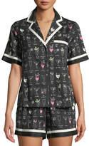 Kate Spade Cocktails Shorty Pajama Set