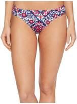 Tommy Bahama Persian Patchwork Side Shirred Hipster Bikini Bottom Women's Swimwear
